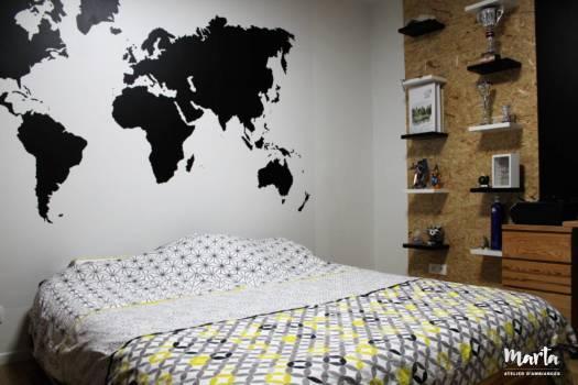 Chambre d'adolescent – thème sport et voyage, par Marta Atelier d'Ambiances, Architecte d'intérieur à Mulhouse, Alsace