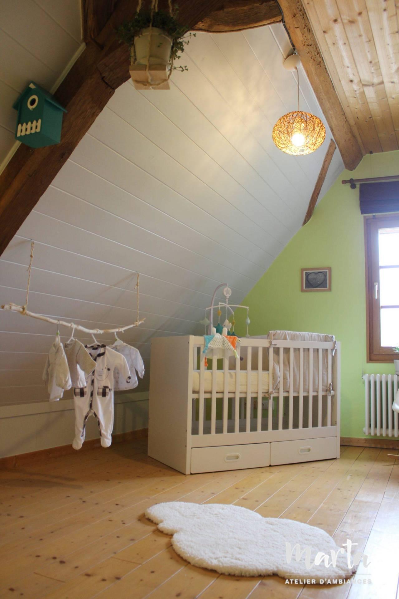 Chambre de bébé thème , « Nature », par Marta Atelier d'Ambiances, Architecte d'intérieur à Mulhouse, Alsace