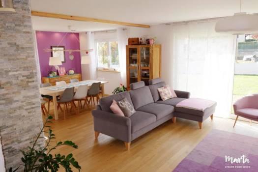 Projet neuf maison 140 m2 « Home sweet home », par Marta Atelier d'Ambiances, Architecte d'intérieur à Mulhouse, Alsace