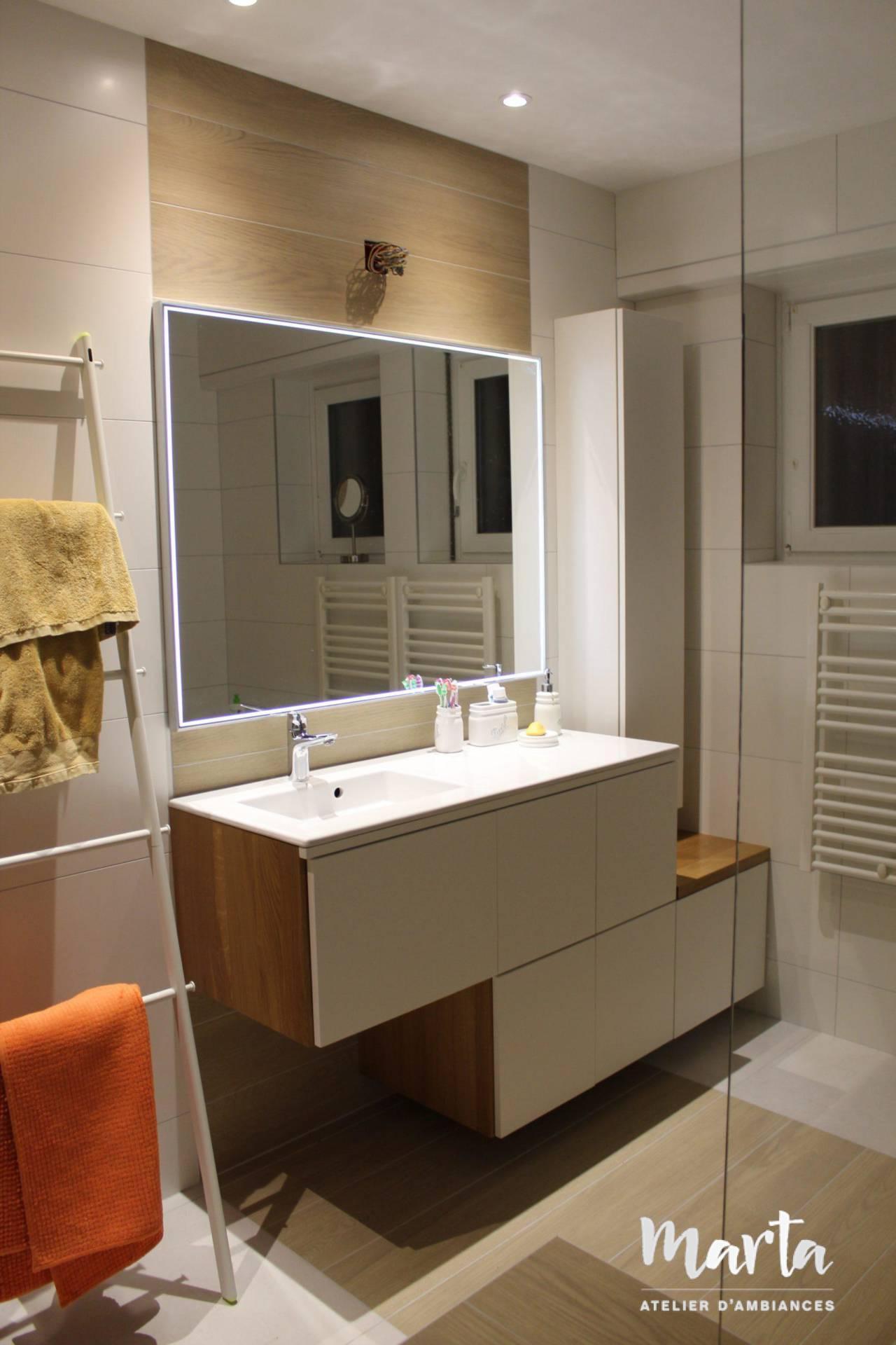 Rénovation de salle de bain, par Marta Atelier d'Ambiances, Architecte d'intérieur à Mulhouse, Alsace