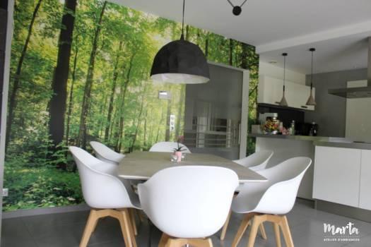 Rénovation maison à Soultz. Style contemporain et nature,par Marta Atelier d'Ambiances, Architecte d'intérieur à Mulhouse, Alsace