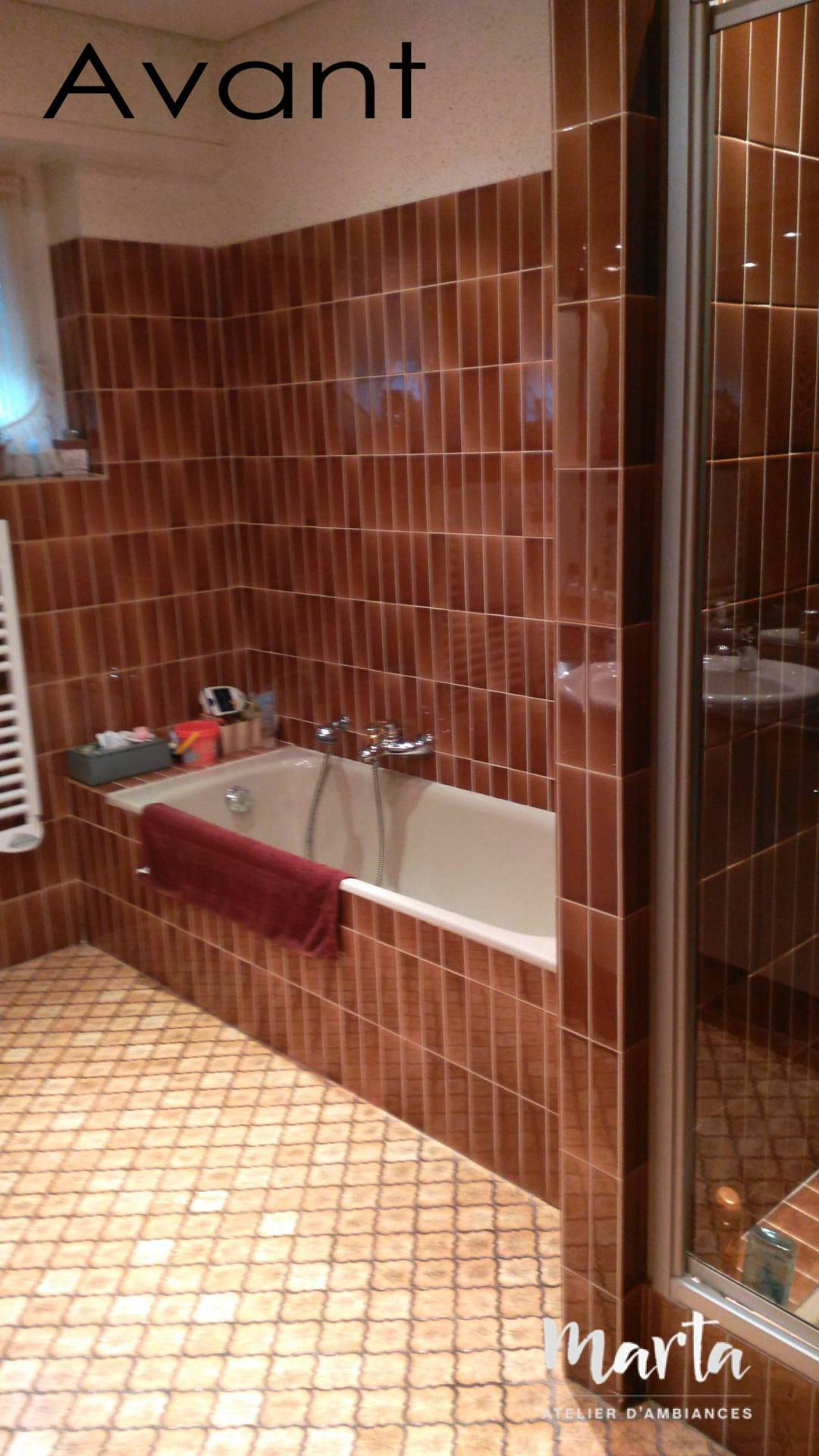 2. Avant -vue coté baignoire