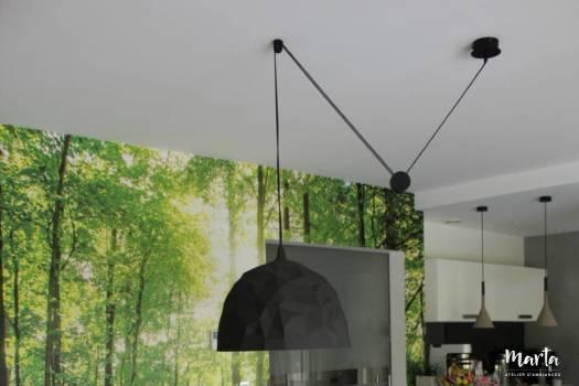 Salle à manger dans la nature, par Marta Atelier d'Ambiances, Architecte d'intérieur à Mulhouse, Alsace