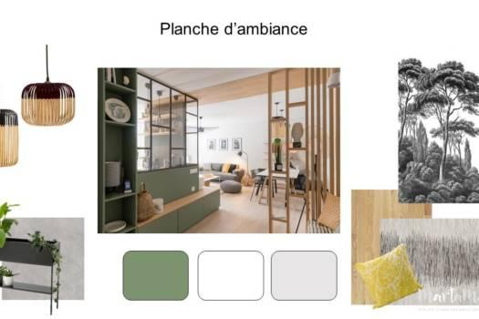 3. Planche d'ambiance contemporain, naturel