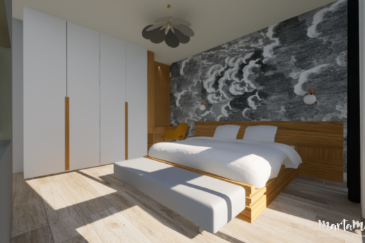 Chambre d'amis style contemporain, par Marta Atelier d'Ambiances, Architecte d'intérieur à Mulhouse, Alsace