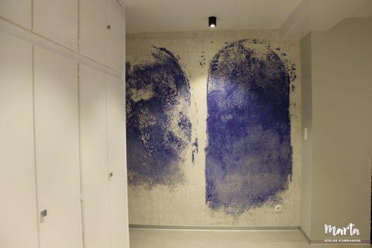 5. Papier panoramique « les arcades bleus », qui donne du caractère à la maison