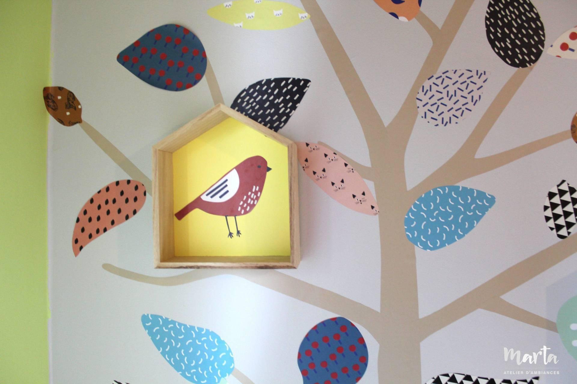 6. Dans cette chambre, même les oiseaux ont leurs petites maisonnettes