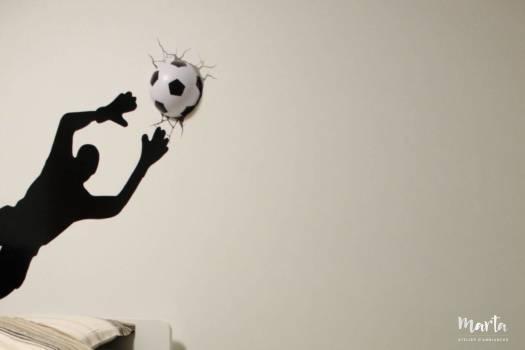 7. But de foot et tapis comme décors de la chambre