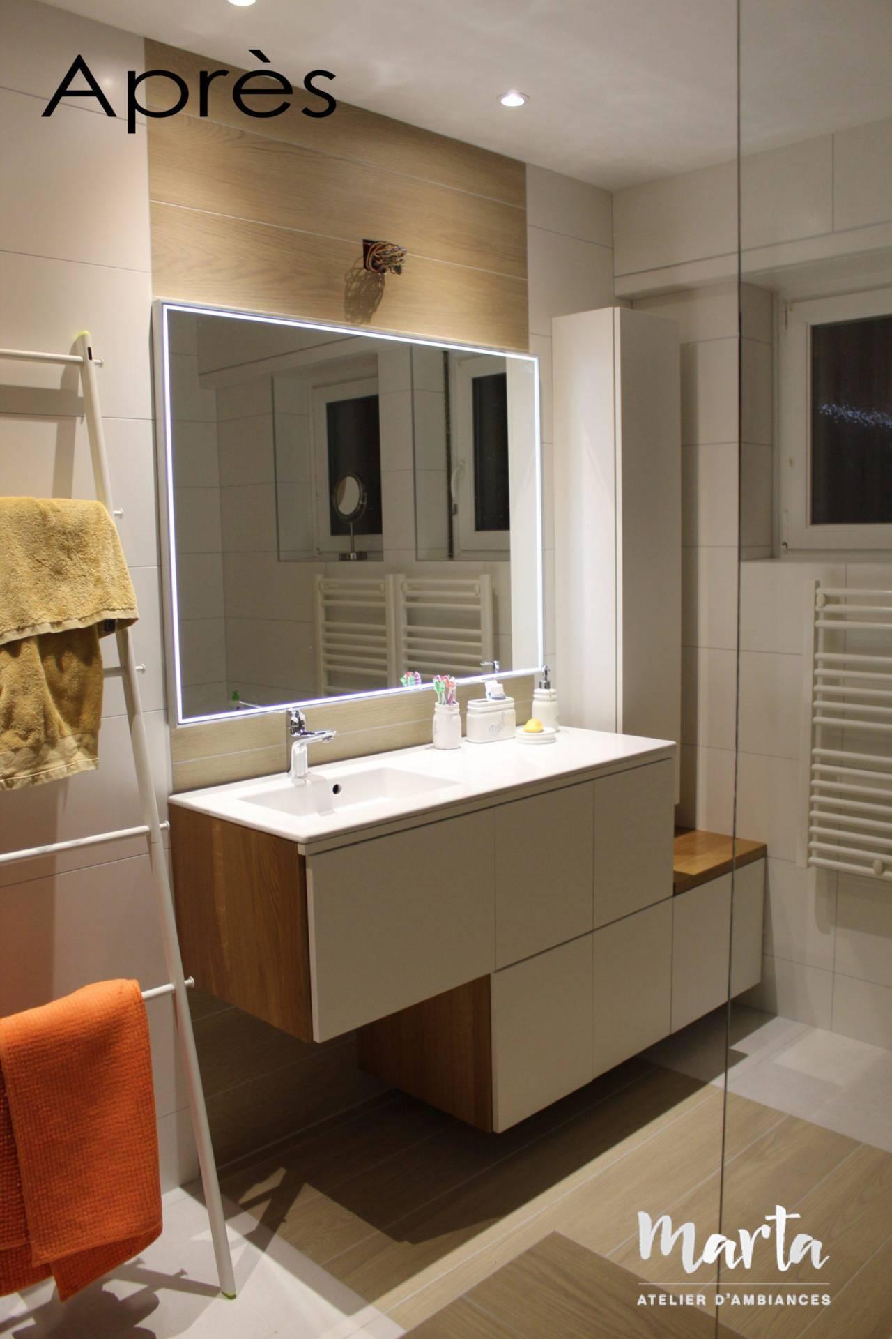 Après - Rénovation de salle de bain, par Marta Atelier d'Ambiances, Architecte d'intérieur à Mulhouse, Alsace