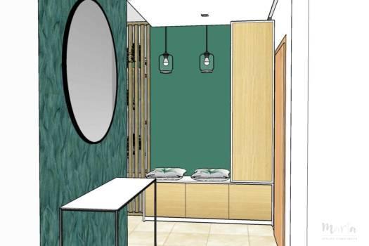 8. Couloir avec meuble de rangement sur-mesure