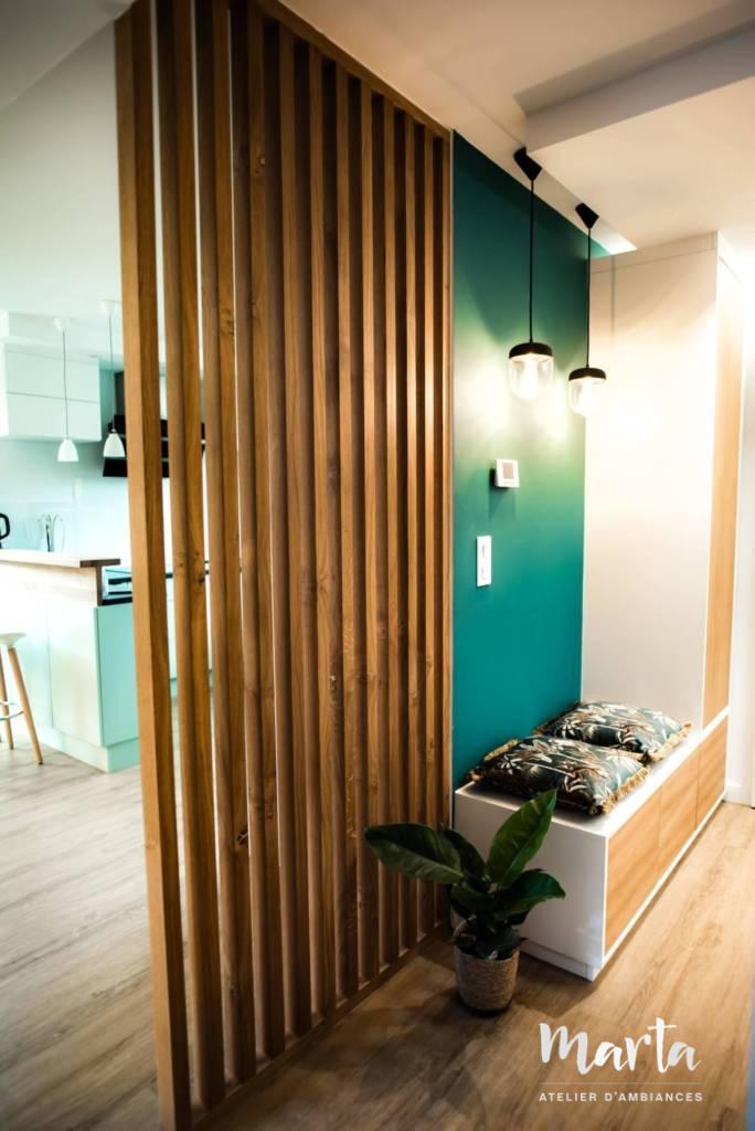 Claustra en bois,Marta Atelier d'Ambiances, rénovation Soultzmatt