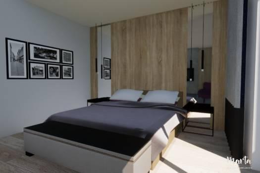 Chambre moderne, par Marta Atelier d'Ambiances, Architecte d'intérieur à Mulhouse, Alsace