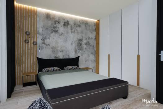 Chambre d'amis 2 style contemporain, par Marta Atelier d'Ambiances, Architecte d'intérieur à Mulhouse, Alsace