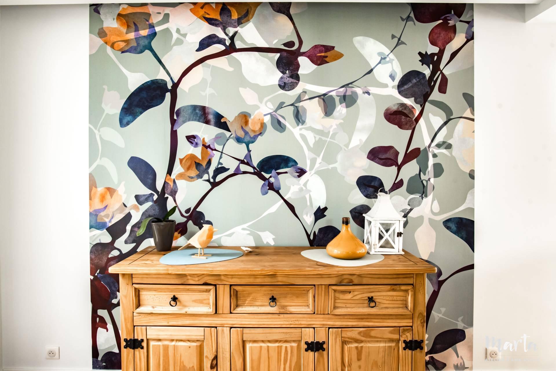 Papier peint,Marta Atelier d'Ambiances, rénovation à Soultzmatt