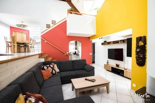 Chaleur d'Afrique dans le salon TV ,par Marta Atelier d'Ambiances, Architecte d'intérieur à Mulhouse, Alsace