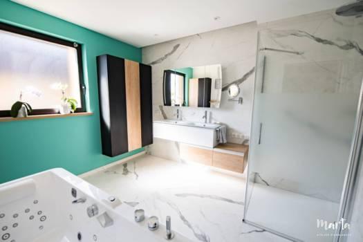 Vue de salle de bain d'ensemble, par Marta Atelier d'Ambiances, Architecte d'intérieur à Mulhouse, Alsace